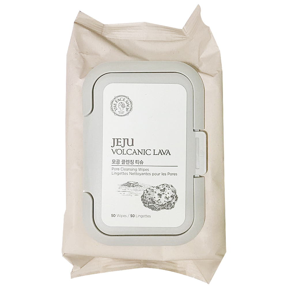 THE FACE SHOP jeju Volcanic Lava Pore Cleansing Tissue 50wipes