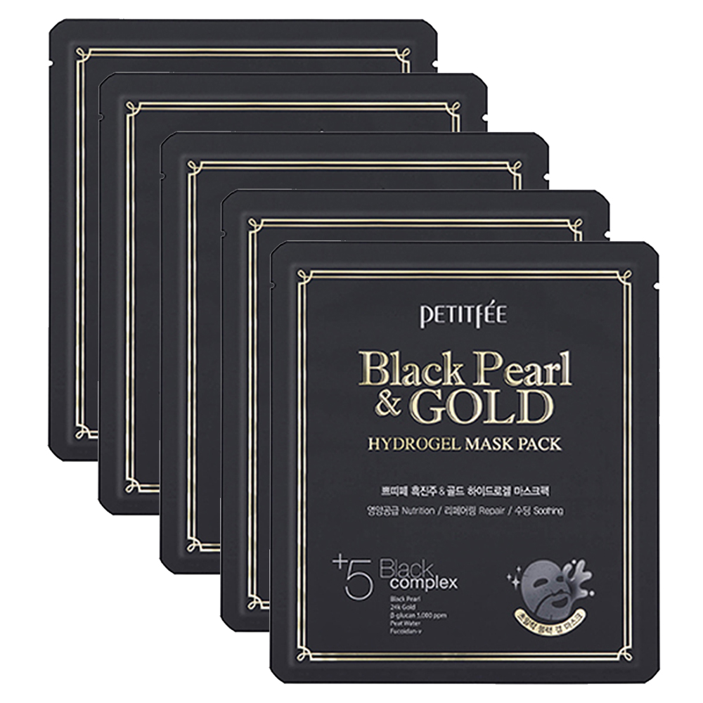PETITFEE Black Pearl & Gold Hydrogel Mask Pack 32g x 5 sheets