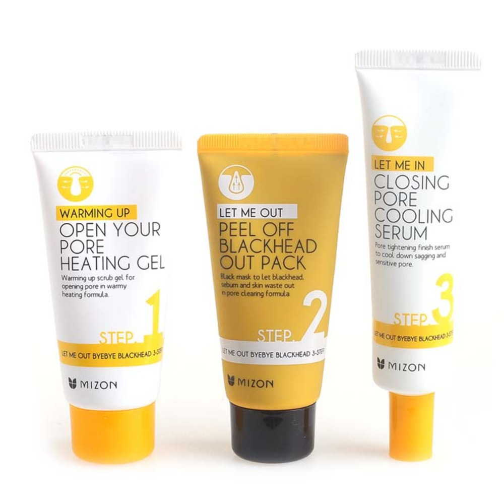 Mizon Let Me Out Byebye Blackhead 3 Step Kit