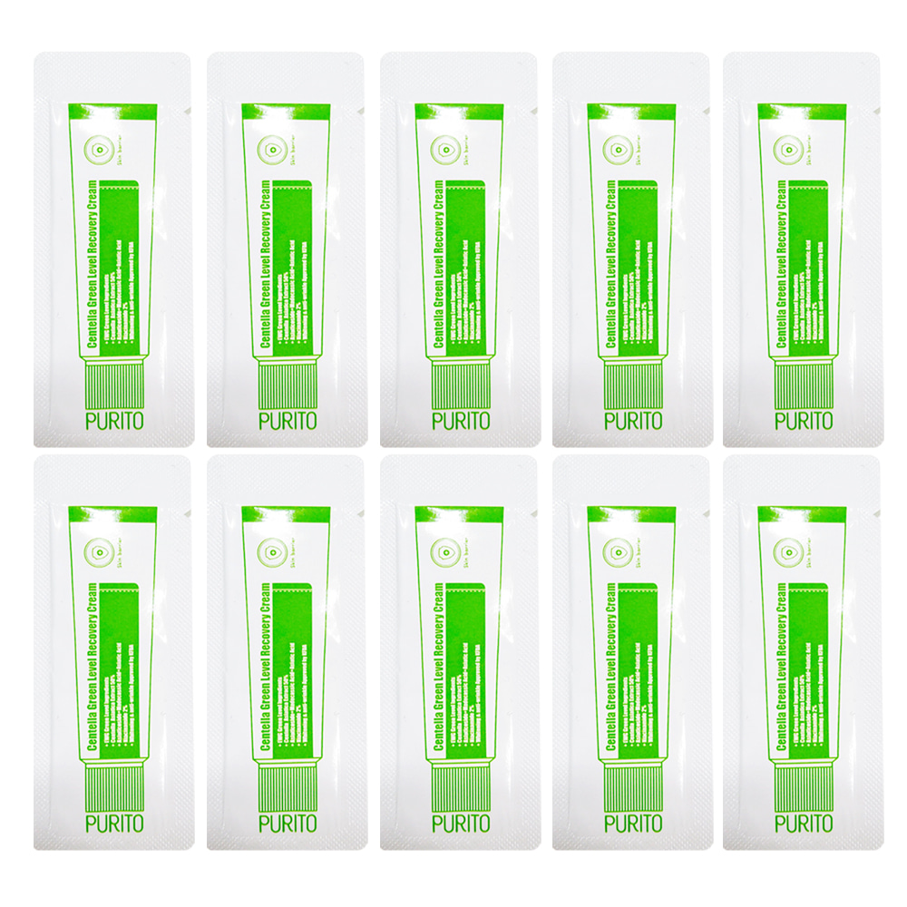 PURITO Centella Green Level Recovery Cream Samples 10ea