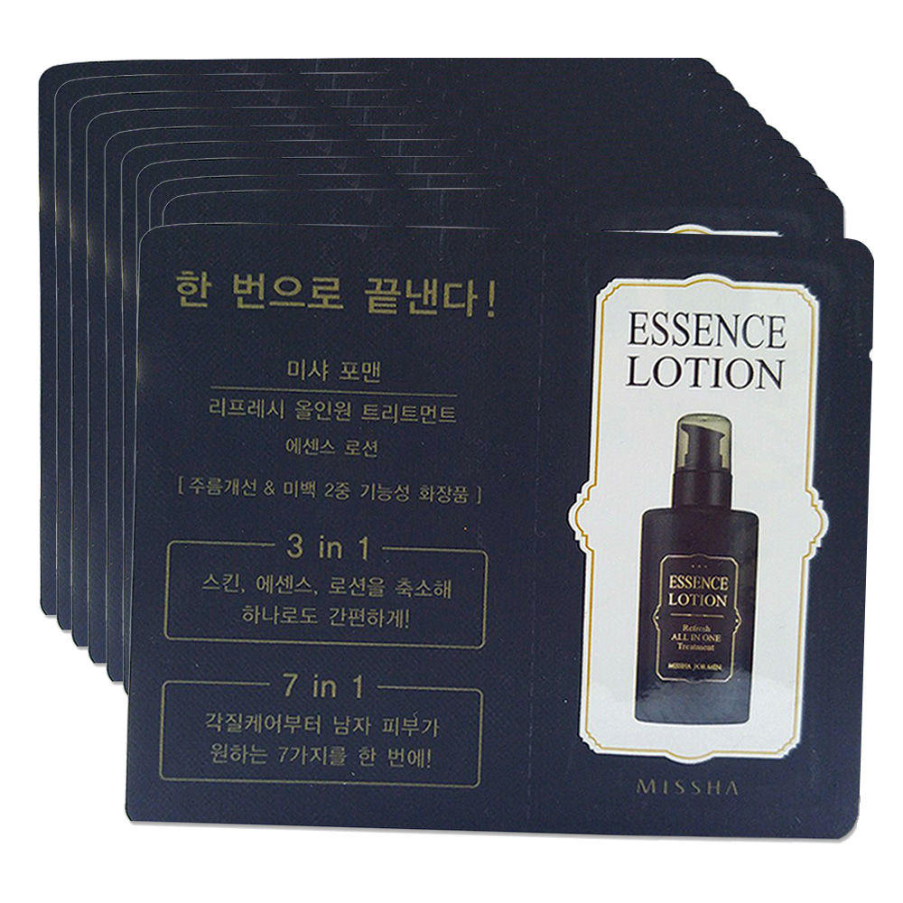MISSHA For Men Refresh All-In-One Treatment [Essence Lotion] (1ml_Film) * 10ea