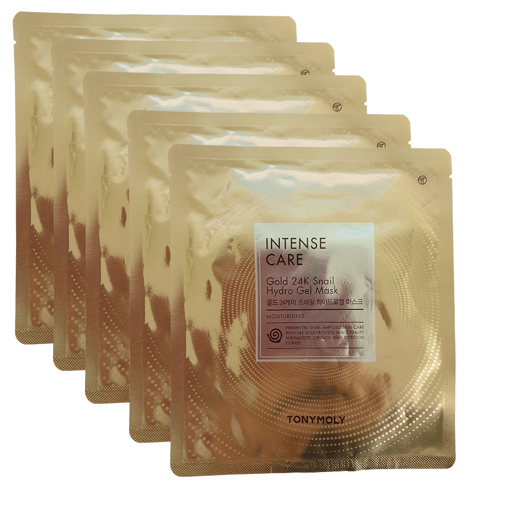 TONYMOLY Intense Care Gold 24K Snail Hydro Gel Mask 25g X 5pcs