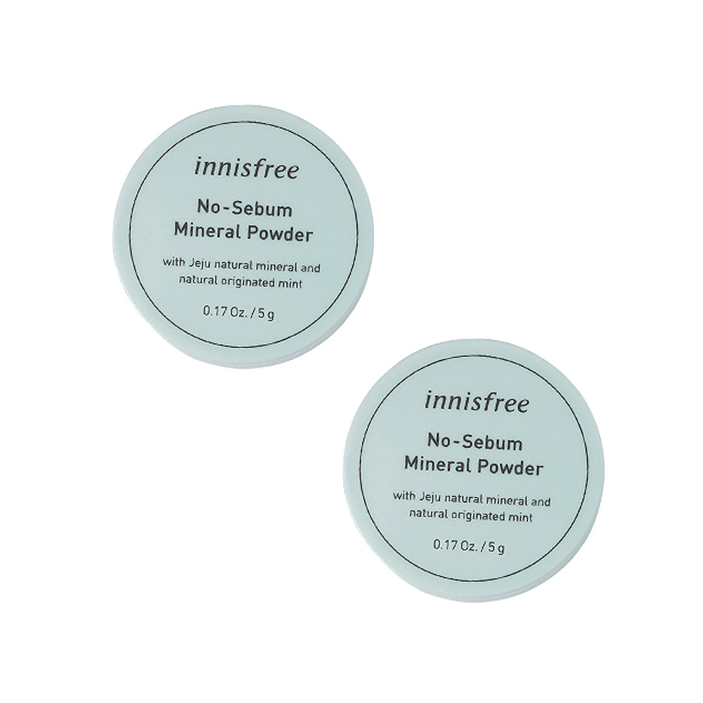 Innisfree No Sebum Mineral Powder 5g 1+1 2pcs