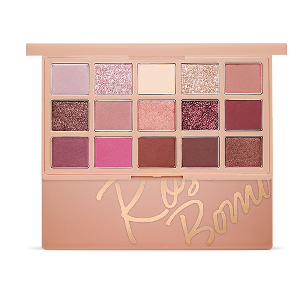 Etude House Play Color Eye Palette #Rose Bomb (15 Colors) NEW