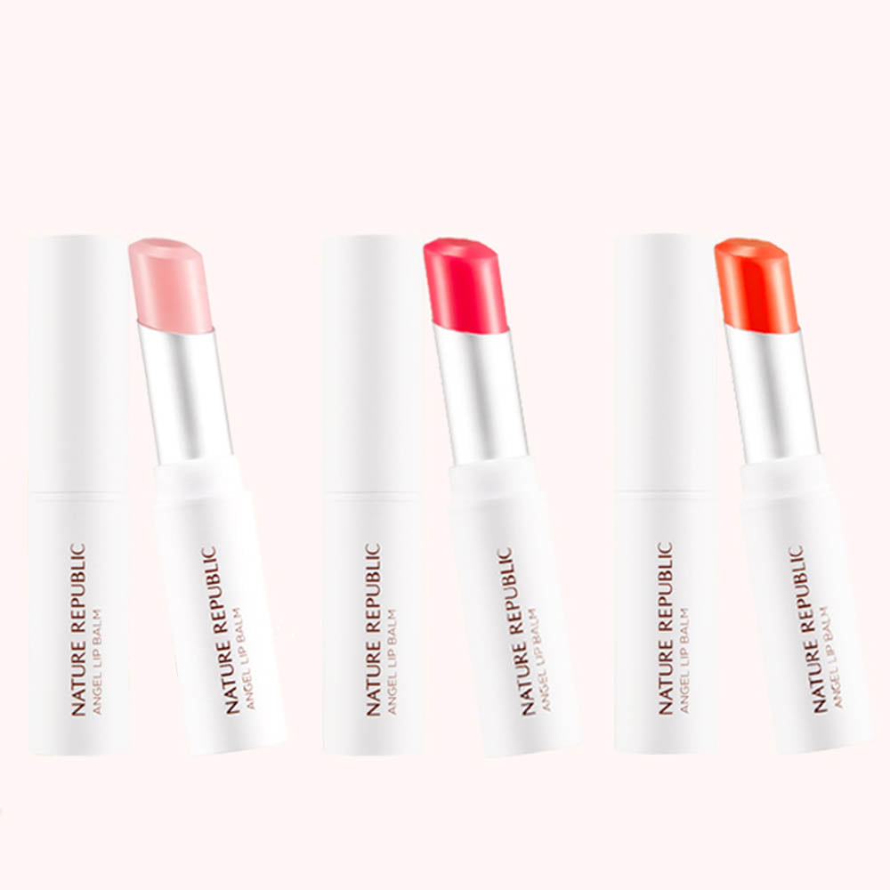 Nature Republic Moist Angel Lip Balm 3.3g 1+1 2pcs (3 type)