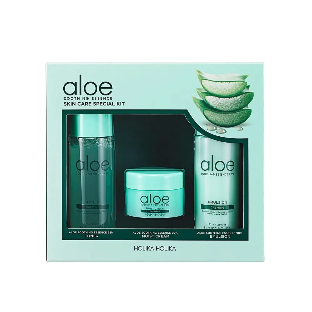 Holika Holika Aloe Soothing Essence Skin Care Special Kit (3 items)