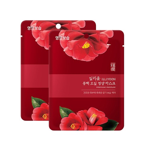 ILLIYOON Camellia Oil Nutrition Mask Sheet 30g [Intensive Moisture] 2pcs
