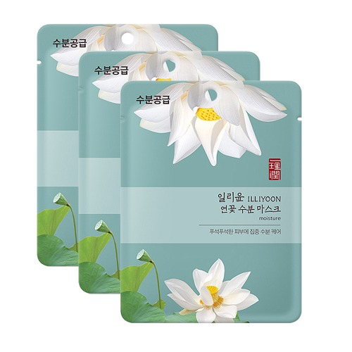 ILLIYOON Lotus Moisture Mask Sheet 23g [Moisture] 3pcs