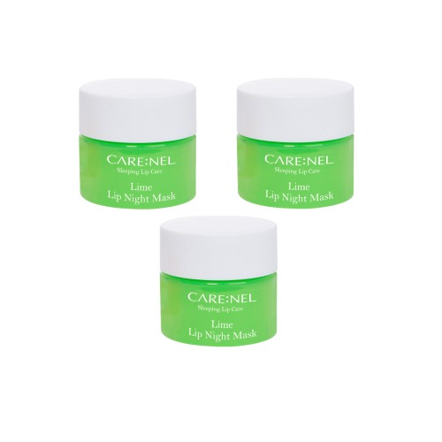 CARE:NEL Lime Lip Sleeping Mask 5g 3pcs